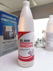 Dezinfekční - antibakteriální gel 1000ml, výhodné balení s pumpičkou